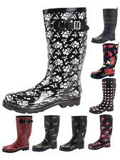 Womens Knee Length Wellington Rain Snow Boots Ladies Wellies Wellys Winter Shoes