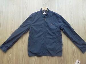 Mens Pretty Green Navy Harrington Jacket large Liam Gallagher mod casuals bnwot