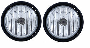 Freightliner Columbia Fog Light Lamp Pair Right & Left 03-11 With light Bulbs