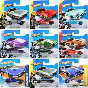 Hot Wheels CORVETTE toy cars '62 '63 '64 '69 STINGRAY 80s CONCEPT 1:64 - NEW!