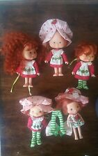 LOT 5 VINTAGE STRAWBERRY SHORTCAKE DOLL FIGURE