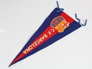 Vintage Football Pennant 1970's - F.C. BARCELONA - Spain Flag