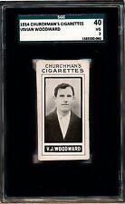 1914 Vivian Woodward Churchman's Cigarettes SGC 40 = PSA 3 Prominent Footballers