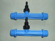 "TWO x Blue Venturi Air / Fluid Injectors 3/4"" New Style - Brand New - Unused"