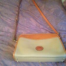 Dooney & Bourke Medium Sized Leather Crossbody Bag Medium Tan Color In EUC