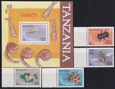 F-EX20472 TANZANIA MNH 1986 BEE ABEJAS ENTOMOLOGY SCARAB INSECTS.