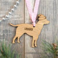 Personalised Labrador Plaque Christmas Bauble For Dog Gift Present Remembrance