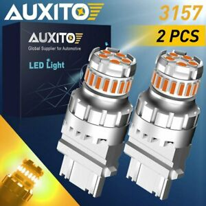 For GMC Sierra 1500 99-2013 Amber 3157 4157 LED Front Turn Signal Light Bulb 2F