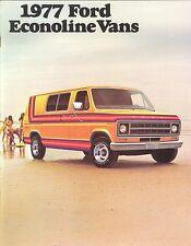 1977 Ford Econoline Vans E-100 E-150 E-250 E-350 Dealer Sales Brochure