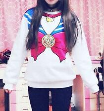 Cosplay Sailor Moon Tsukino Usagi Print Casual Coat Sweat Hoodies Costumes New
