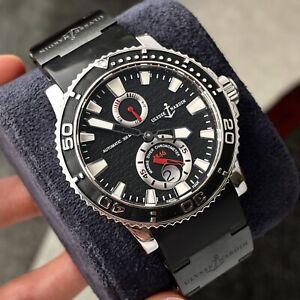 Ulysse Nardin Maxi Marine Diver Black Wave Dial Steel Titanium 43mm Men's Watch