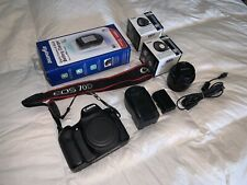 Canon EOS 70D 18.0mp SLR Digital Camera AND 50mm, Telephoto, Wide Angle Lenses