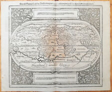 MÜNSTER/MUNSTER: Cosmographia Large Map of the World General Tafel - 1598