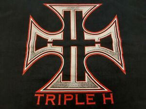VTG Y2K WWF Triple H THE GAME Double Sided Wrestling T Shirt Large L Made In USA