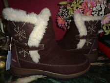 JAMBU BROWN SUEDE SYCAMORE FAUX FUR LINED WINTER BOOTS 9.5M NEW WITHOUT BOX