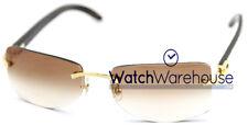 Cartier Buffalo C Decor Horn Temples Brown Lenses Sunglasses T8306000 New Orig