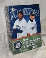 """Ken Griffey Jr. & Ichiro """"Cooperstown Bound"""" Seattle Mariners 2010 Bobblehead"""