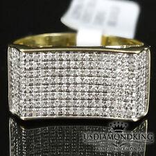 Men's10k Yellow Gold 1/3 Ctw Genuine Diamond  Engagement Wedding Pinky Ring Band