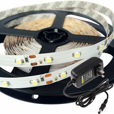 5M Cool White SMD 3528 300 LED Strip Non-waterproof + 12V 2A Power Supply