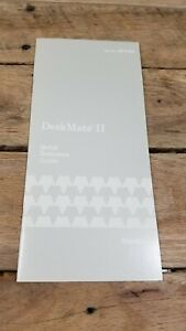 Deskmate II Quick Reference Guide Pamphlet Great Shape