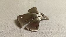 Modernist Fan Brooch Pin Jj Jonette Textured Pewter