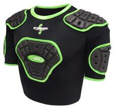Scorpion Junior Protective Vest in Black and Green from Madison for Rugby