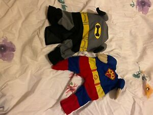 set of two dog outfits batman and robin