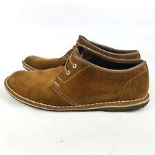 Clarks Originals Jinx Oxford Brown Leather Chukka Shoe Crepe Sole 10.5 US Tan