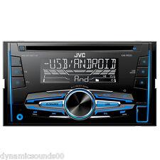 JVC kw-r520 CD mp3 DOPPIO DIN AUTORADIO SINTONIZZATORE USB AUX frontale di Android pronto