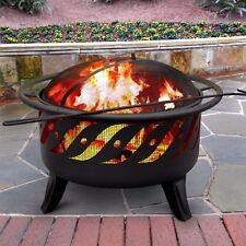 Patio Lights Firewave Fire Pit Decorative Brilliance Sturdy Steel Safety Ring