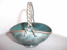 former small basket in bronze
