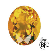 BJC® Loose Natural Orange Sapphire Oval Cut Multiple Sizes Natural Stones