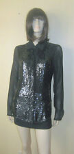 Gryphon New York Sequin-Front Button Down Shirt  L