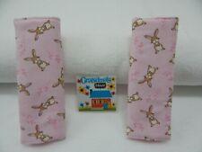 Seat Belt Covers Pink Sweet Bunnies Child Car Seat Stroller Pram