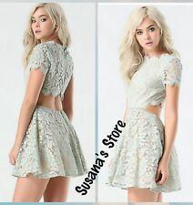 NWT BEBE FOIL LACE CUTOUT DRESS SIZE S Super-pretty party dress MSRP $206.00!!