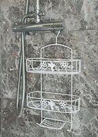 White Hanging Shower Caddy Bathroom Storage Rack Shelf Organiser Basket