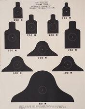 LOT of 10 Targets Alt C - US ARMY Range Qualification Targets ALT C Course