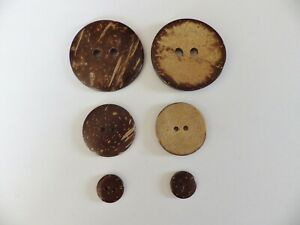 Natural Coconut Buttons : 44mm - 30mm - 15mm