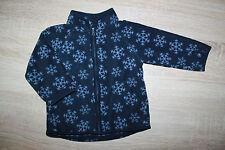 H&M Kinderfleecejacke Fleece blau Schneeflockenoptik - guter Zustand - Gr. 74