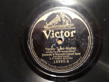 VICTOR 78 RECORD 19990/UNIVERSITY OF WISCONSIN/VARSITY TOAST/ON WISCONSIN MARCH