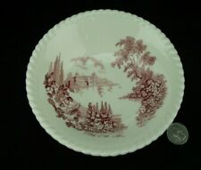 "PINK RED  CASTLE ON THE LAKE   JOHNSONS BROTHERS 6"" CEREAL BOWL (S)"