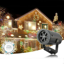 Snowflake Outdoor Moving LED Laser Projector Light Landscape Xmas Garden Lamp