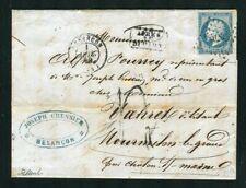 Belle lettre taxée de Besançon pour Mourmilon le Grand ( Doubs 1859 )