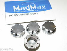 YY-MadMax HPI KM ROVAN BAJA 5T 5SC 5ive Locking Wheel Nut Caps Silver
