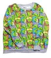 Nickelodeon X-Large Teenage Mutant Ninja Turtles Gray Long Sleeve Sweat Shirt