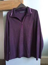 Mountain Life Mauve Purple Lightweight  Fleece Thermal Top Size 14 Zip Neck Line