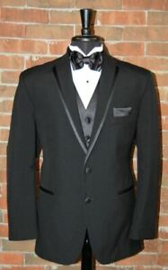Mens 42 R  Black La Strada  by After Six Tuxedo Jacket and Pant
