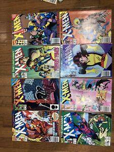 Lot 8 Marvel Comics The Uncanny X-men 284,196,299,280,258,168,208,286 Euc