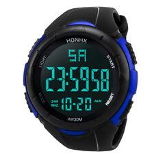 SKMEI Men's Waterproof Sport Army Alarm Date Analog Digital Black Wrist Watch