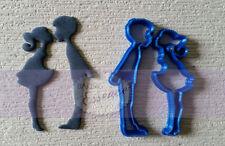 Kissing boy girl cookie fondant cutter UK Seller